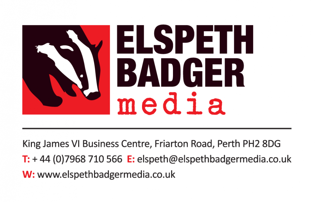 Elspeth Badger Media Logo & Business Card.