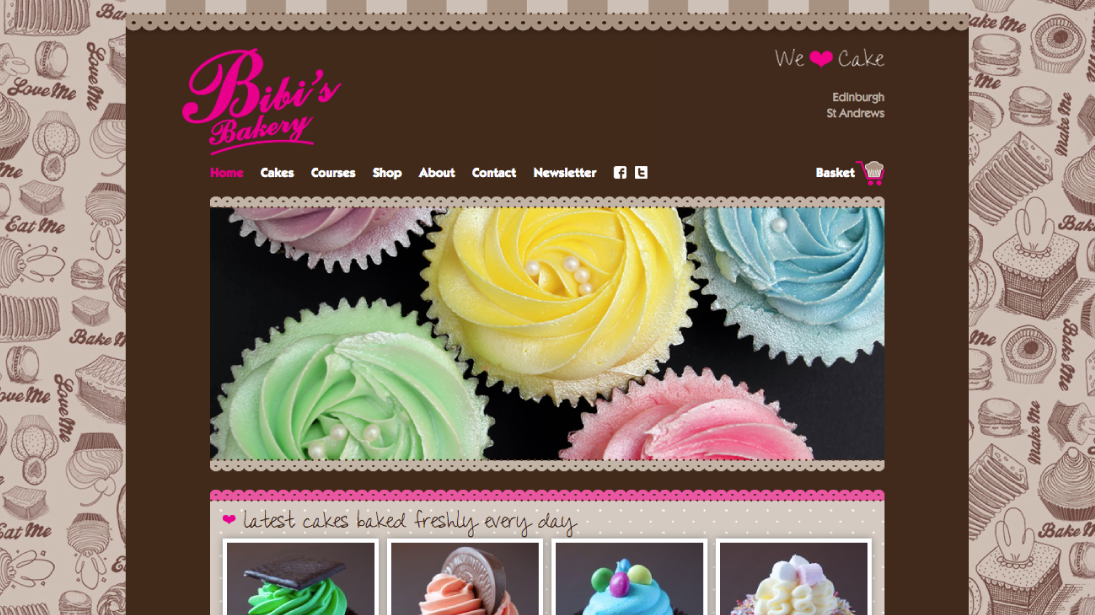 Bibis Bakery Website