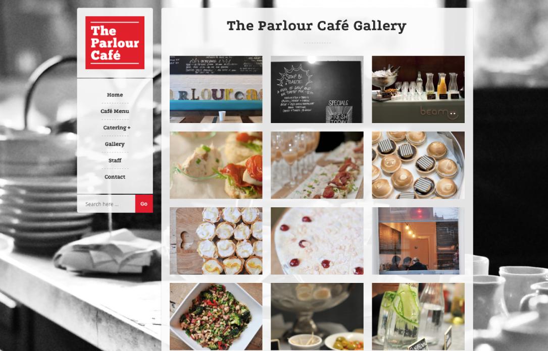 The Parlour Café website