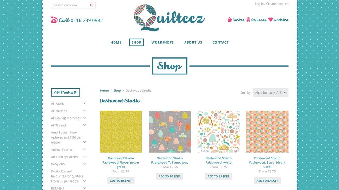 Quilteez website