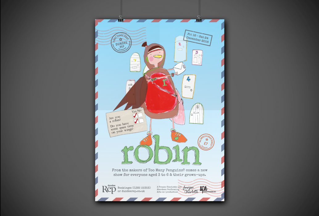 Dundee Rep Robin Poster