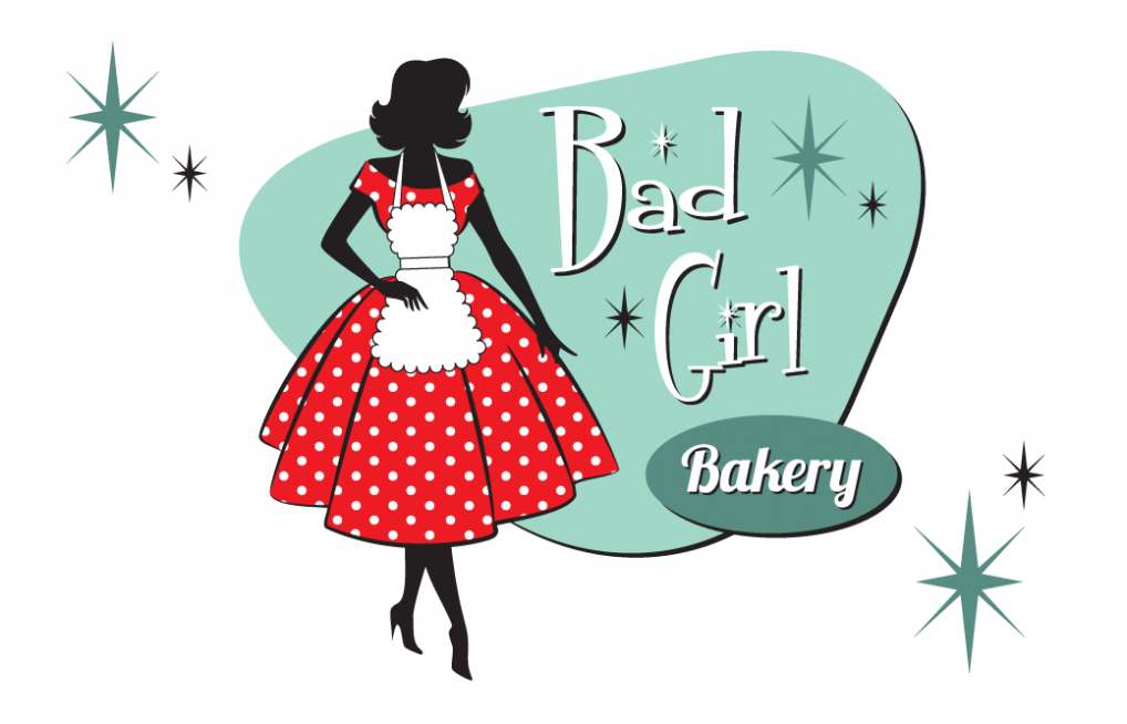 Bad Girl Bakery Business Card.