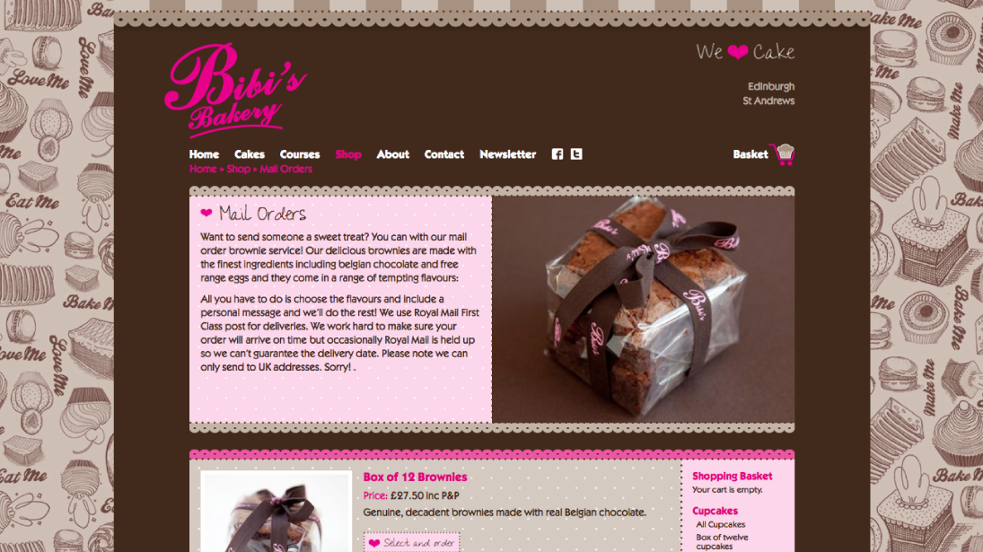 Bibis Bakery Website