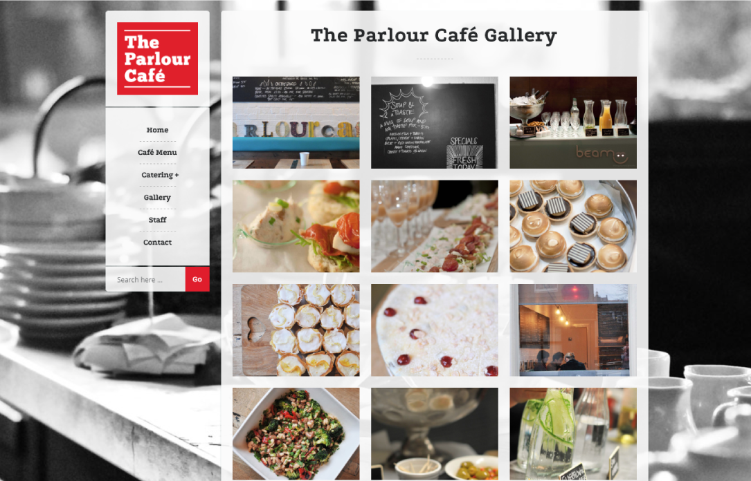 The Parlour Café website