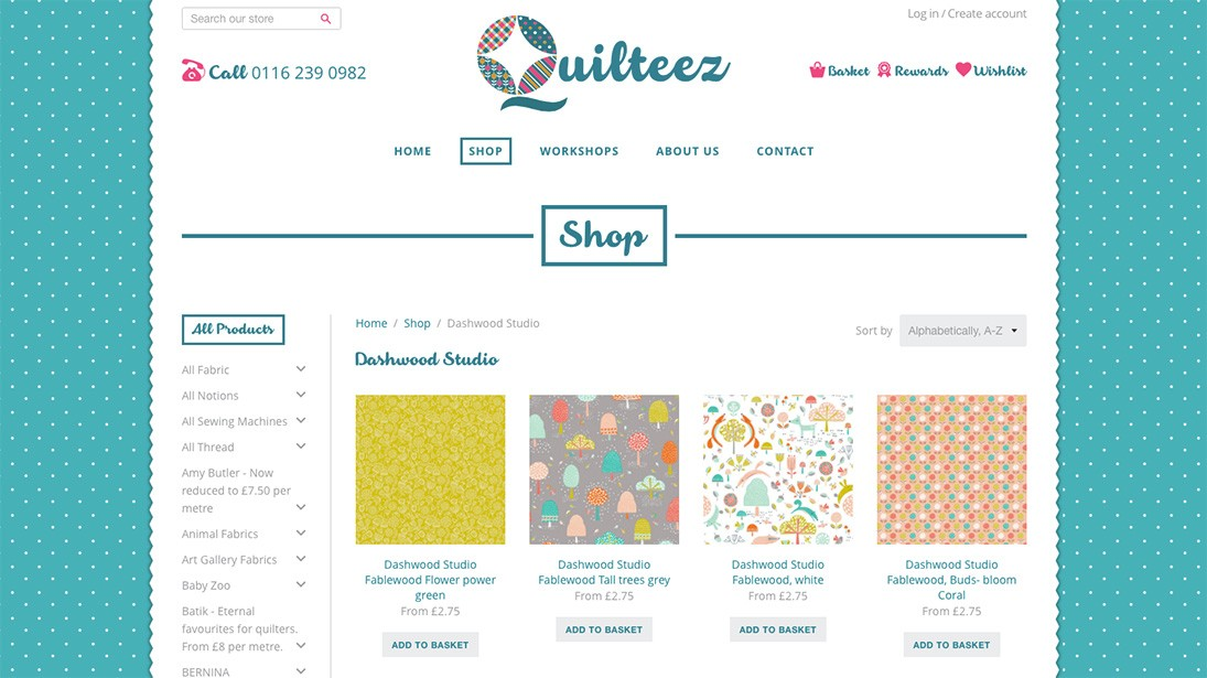 Quilteez website